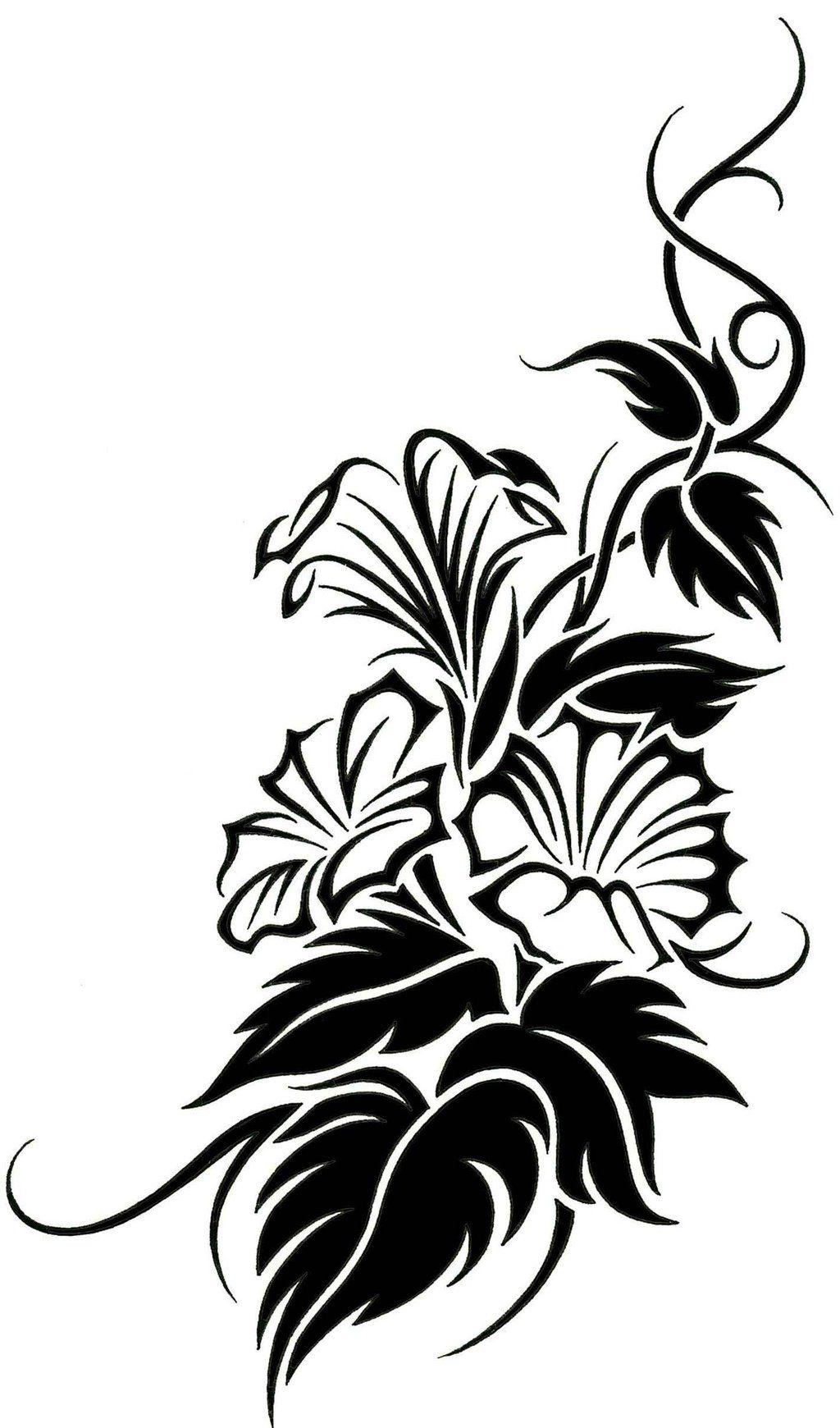Floral Tribal Vine Tattoo Design by JSHarts.deviantart.com ...