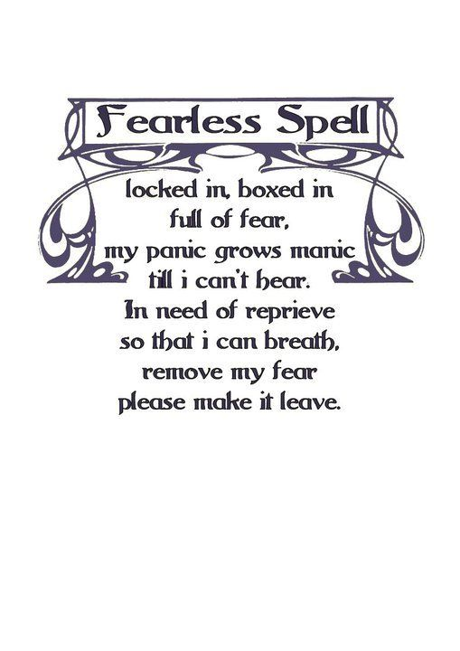 Charmed Series Book Of Shadows Fearless Spell  Metaphysic Study