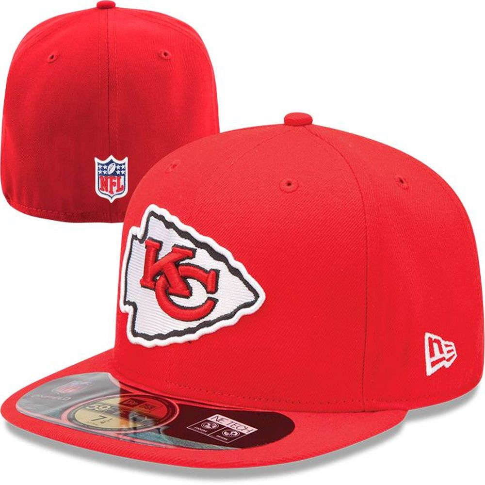 finest selection ef263 8bfb9 ... official nfl low profile discount mens kansas city chiefs new era red  on field player sideline 59fifty fitted hat eec35 ...