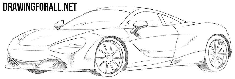 How To Draw A Mclaren 720s Car Drawings Mclaren Draw