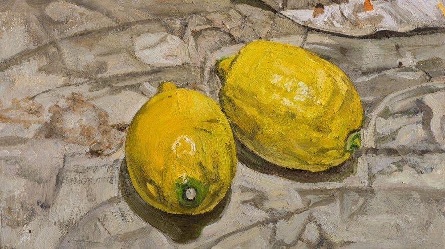 Bramham-Two-Lemons-MR-31.jpg (881×493)Christopher Bramham (b.1952) Two Lemons, 2013-14, oil on canvas, 12 ½ x 10 in / 32 x 25.5 cm