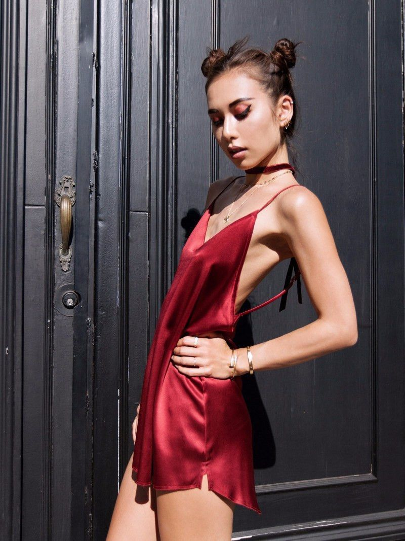 8992cc0b6823 Zillah Slip Dress - Blood Red | Are You Am I | BABY BE MINE ...