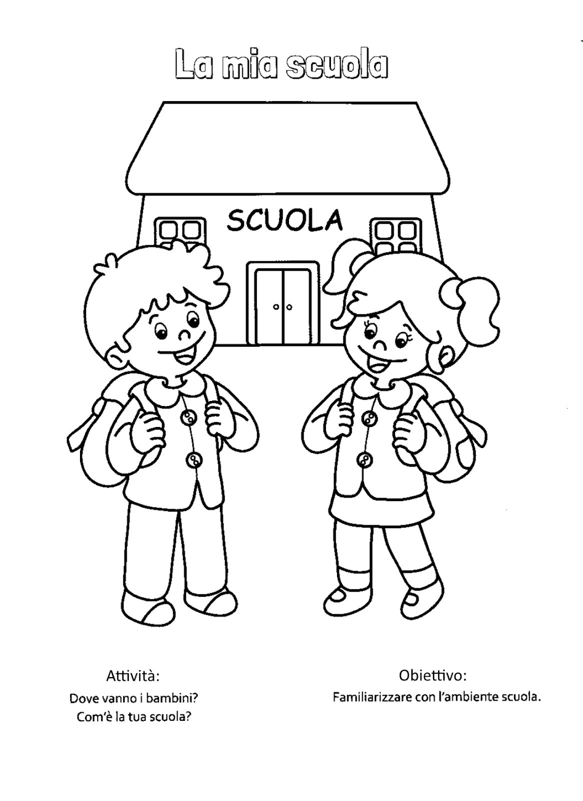 abbastanza Blog scuola, Schede didattiche scuola dell'infanzia, La maestra  VS54