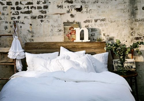Rustic Brick Wall Bedroom Tumblr