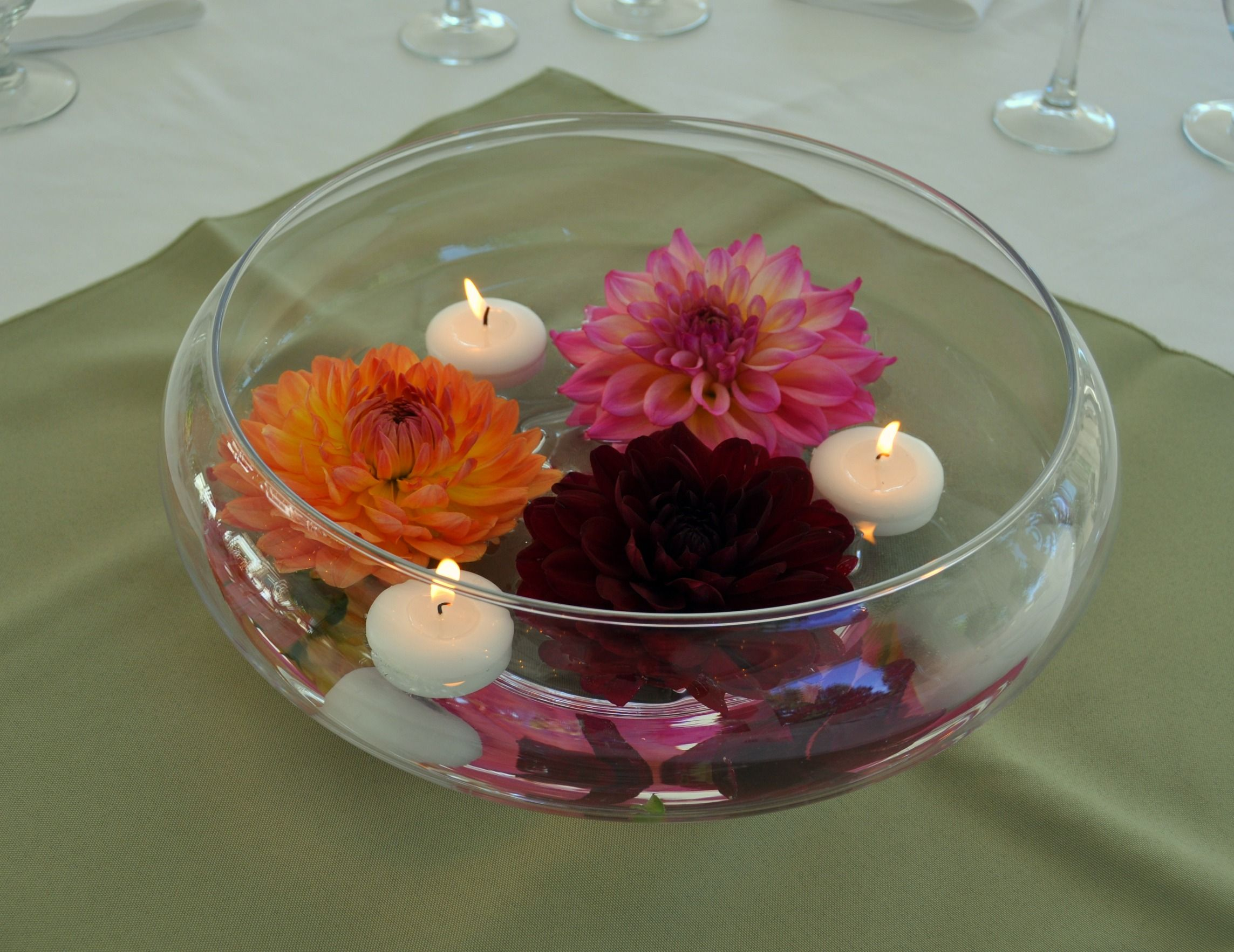 Floating Candle Glass Bowls With Images Floating Candles Bowl