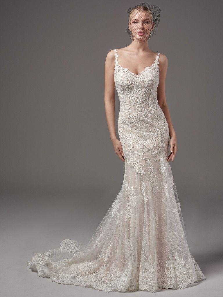 Lace keyhole back wedding dress  Maggie Sottero Wedding Dresses  Maggie sottero Sottero midgley and