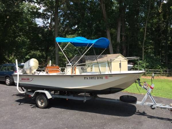 Boston whaler montauk 17 12000 http jerseyshore for Craigslist used fishing boats