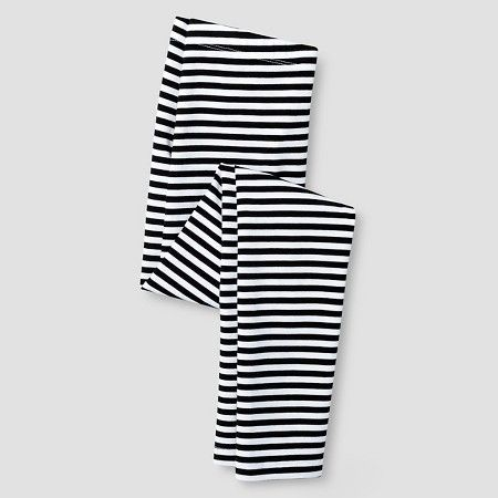 Girls' Leggings Cat & Jack™ - Black & White Stripe L : Target ...