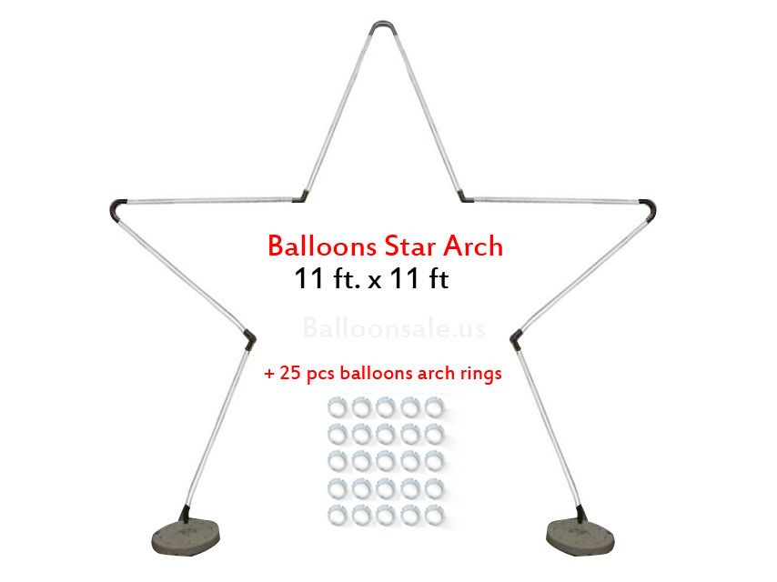 Large Metal Latex Balloons Star Arch Frame Kit | Metal Balloons Star ...
