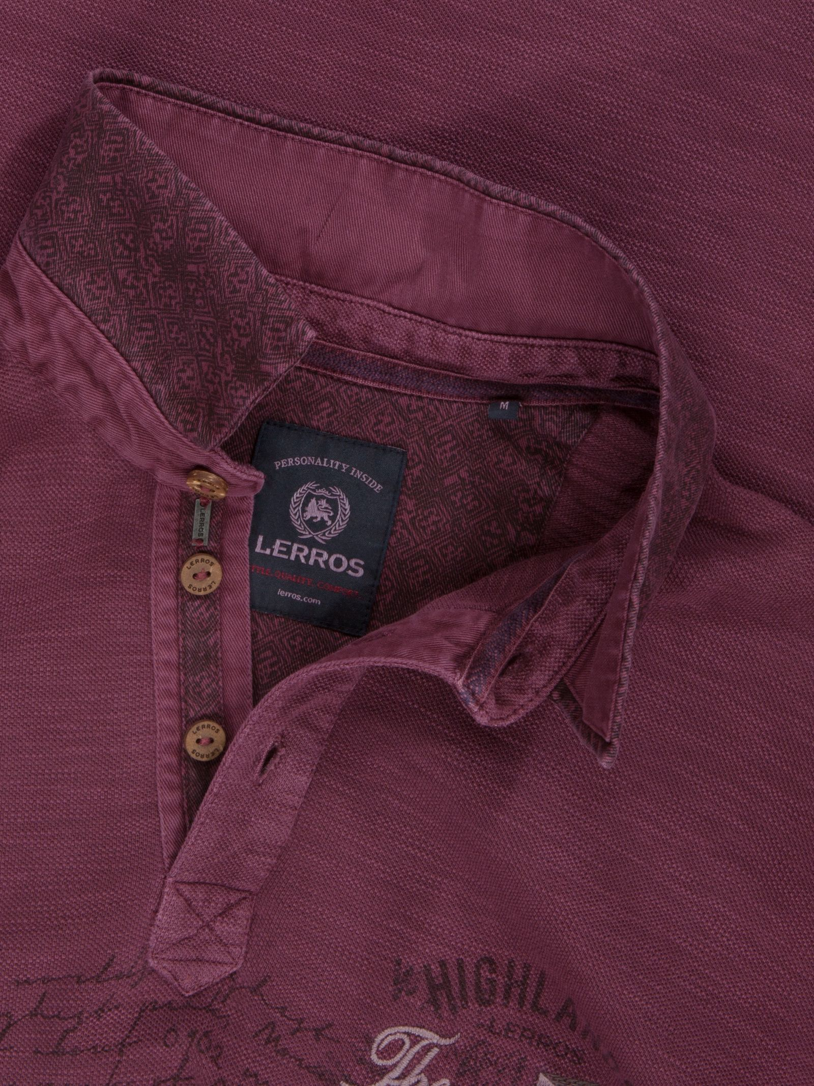 Lerros sweat shirt Polo vintage avec la Bourgogne broderies