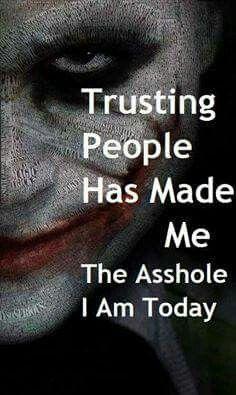 i still trust joker oh joker is inhuman i trusted someone
