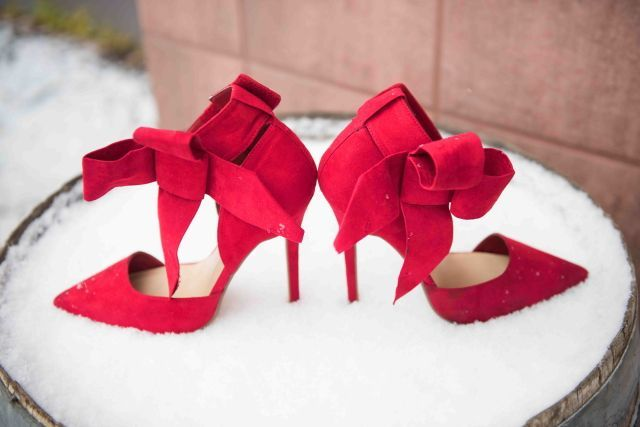 Pretty red bow pumps. Trendy and affordable!