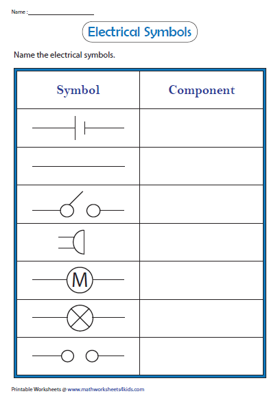 Name The Electrical Symbols Electricity Lessons Science Electricity Electricity