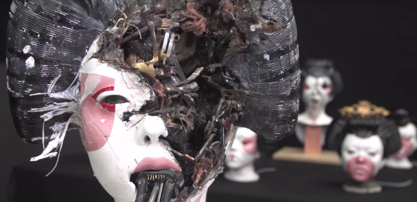 Creating Ghost In The Shell Geisha Masks Ghost In The Shell Weta Workshop Ghost