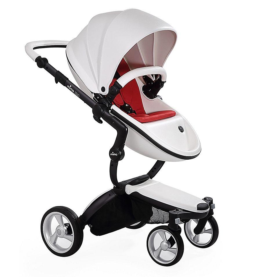Mima Xari Black Chassis Stroller In White/red Stroller