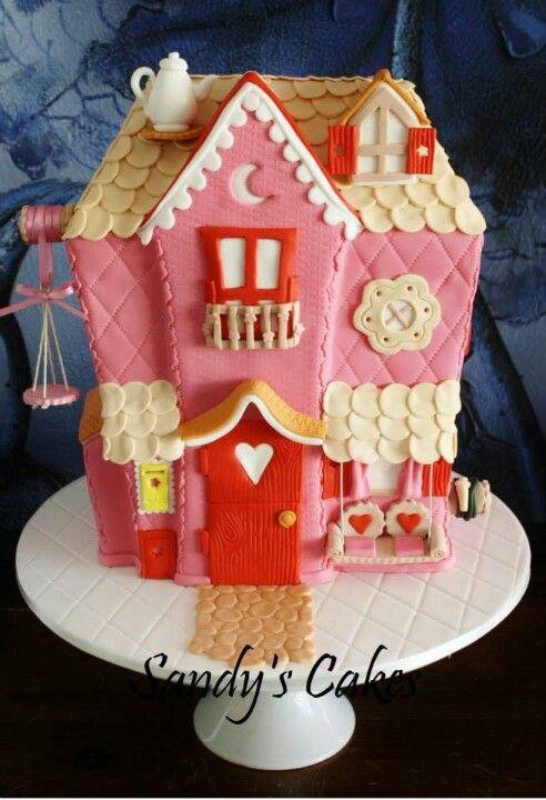 Dollhouse Cake Cake Decorating Inspirations Cake House Cake