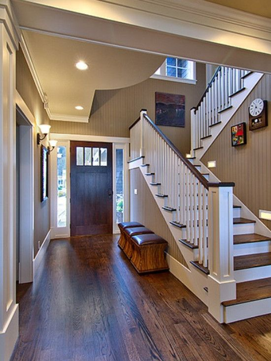 Like The Bead Board On The Wall Up The Stairs. Economic Wainscoting And  Tougher Than