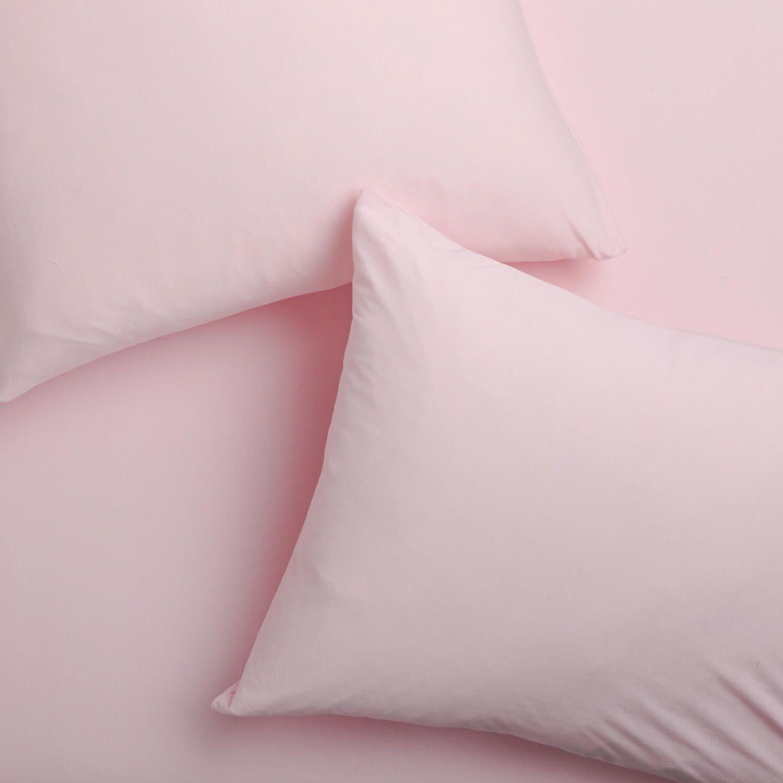 Super Soft T Shirt Jersey Pillowcase Set Light Pink Light Pink