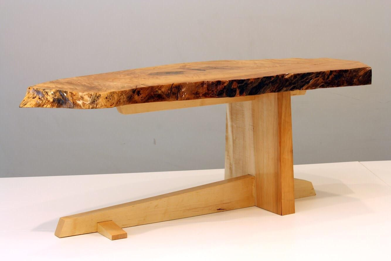 The Cantilever Table My Attempt At A Unique Live Edge Coffee Table Http Ift Tt 2vwspkg Coffee Table Wood Table Woodworking Table [ 889 x 1334 Pixel ]
