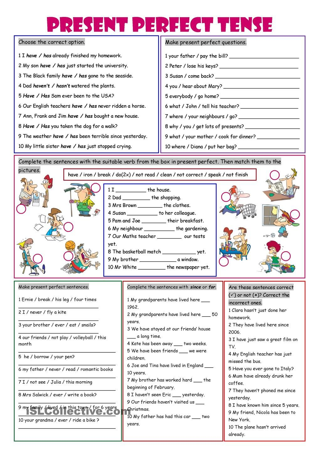 English worksheet: Present perfect vs Simple past in context ...