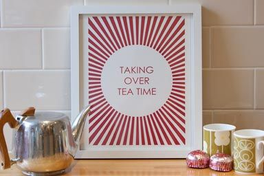 Scottish Gifts - Taking Over Teatime - Poster by Allistair - Designer via Papa Stour