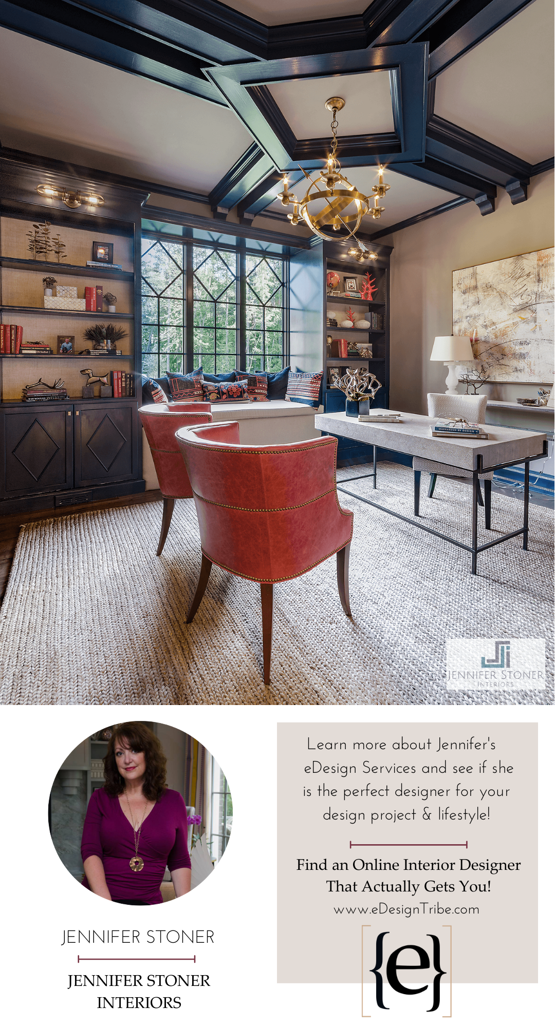 Learn more about Jennifer's services and see if she's the e-designer for you!  >> jenniferstonerinteriors.com <<  #edesigntribe #edesignrevolution #interiordesign #edesign #onlineinteriordesign #edesignservices #virtualdesign #edesigner #fullservice