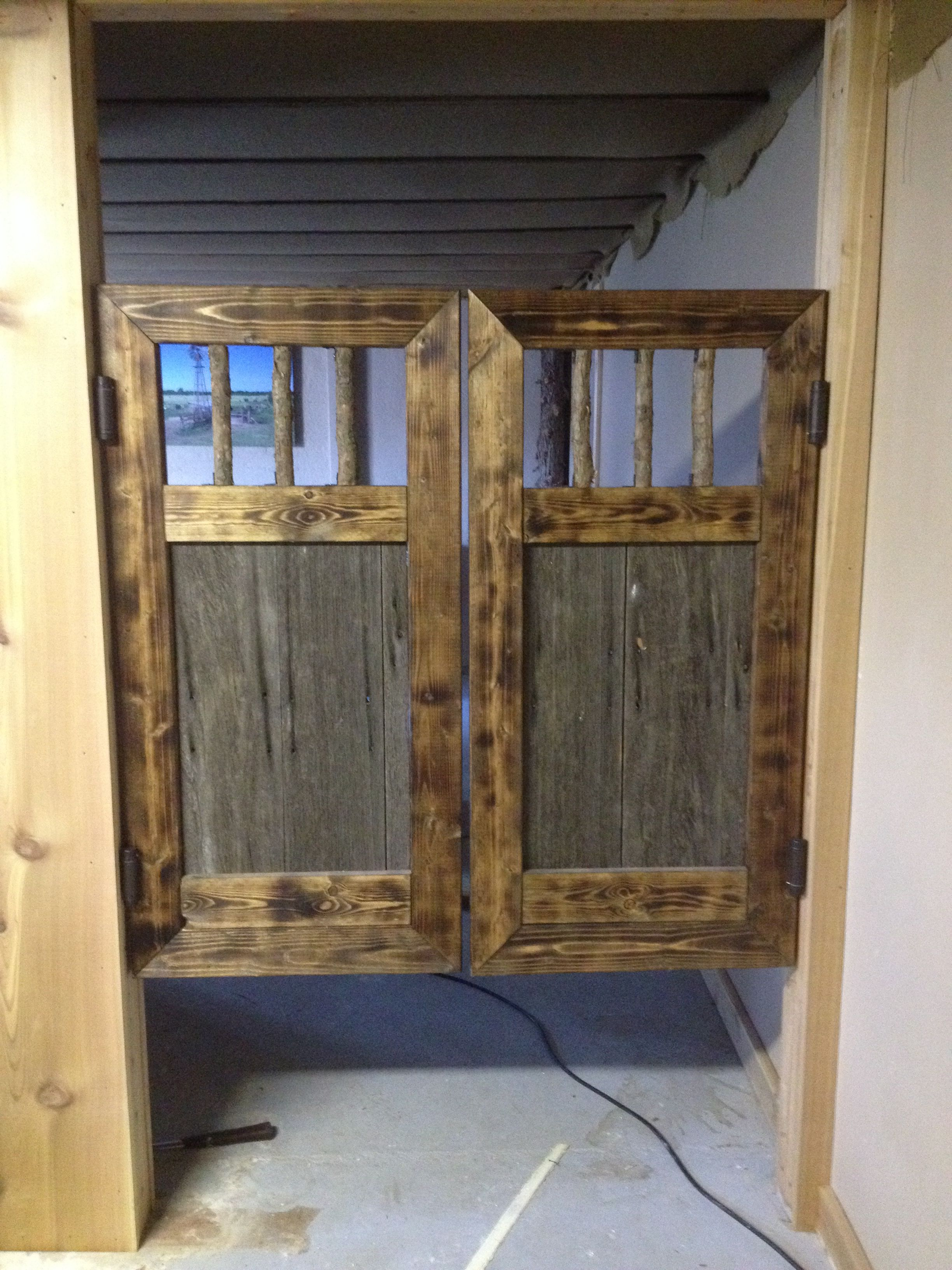 Rustic Re Claimed Barn Wood Saloon Doors Cabane Enfant