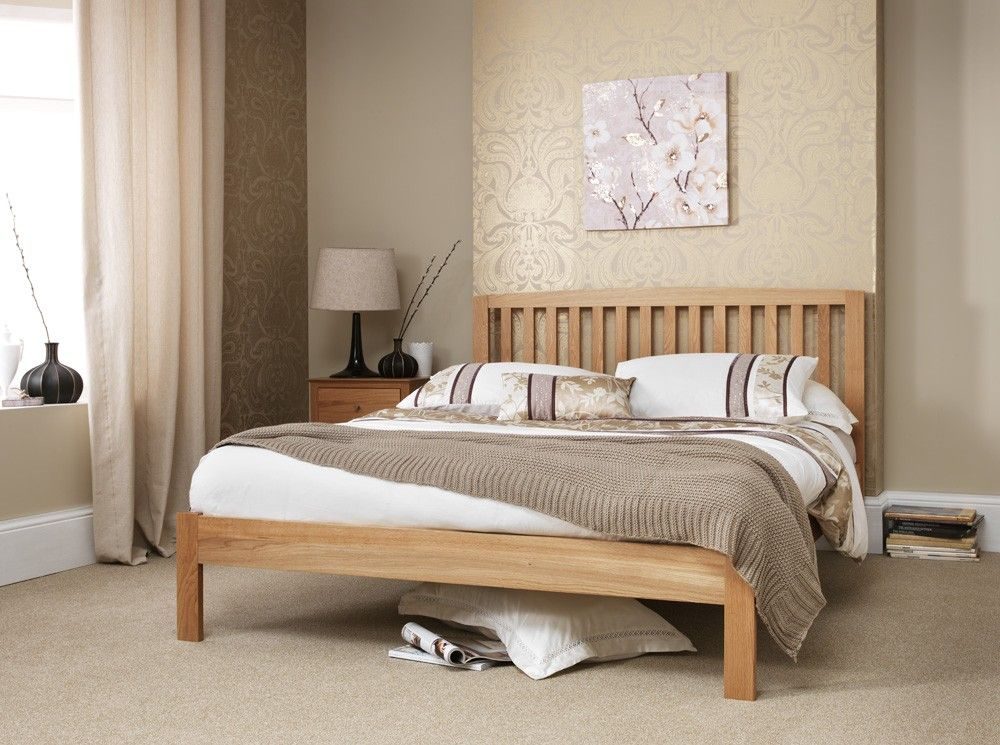 Thornton American White Oak Kingsize 5ft Bed Frame Oak