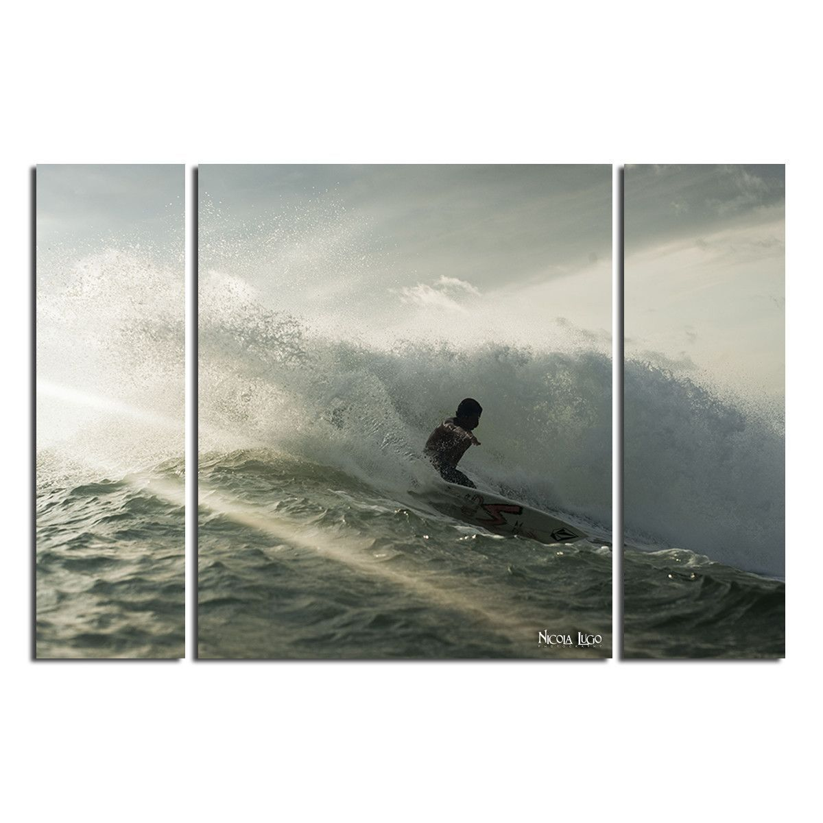 'Surf' 3 by Nicola Lugo 3 Piece Photographic Print on Wrapped Canvas Set