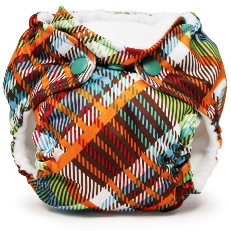 Newborn All in One Cloth Diaper LiL Joey (2 pk) -Quinn - Newborn (4-12 Pounds) / Microfiber & Polyester TPU