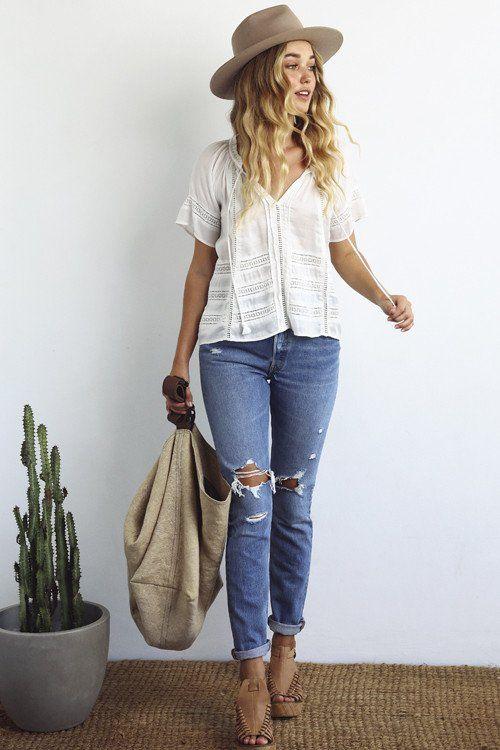 Faded Jeans Women