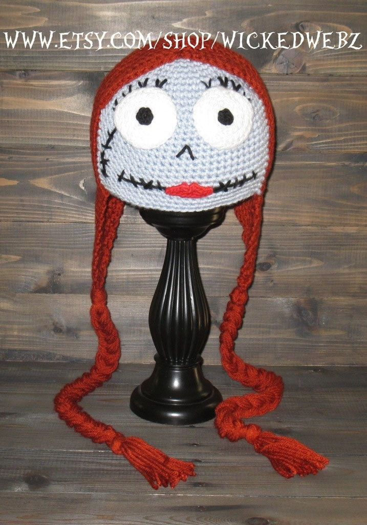 87a2cfb4b537e ADULT Sally The Nightmare Before Christmas crochet hat by WICKEDWEBZ on Etsy