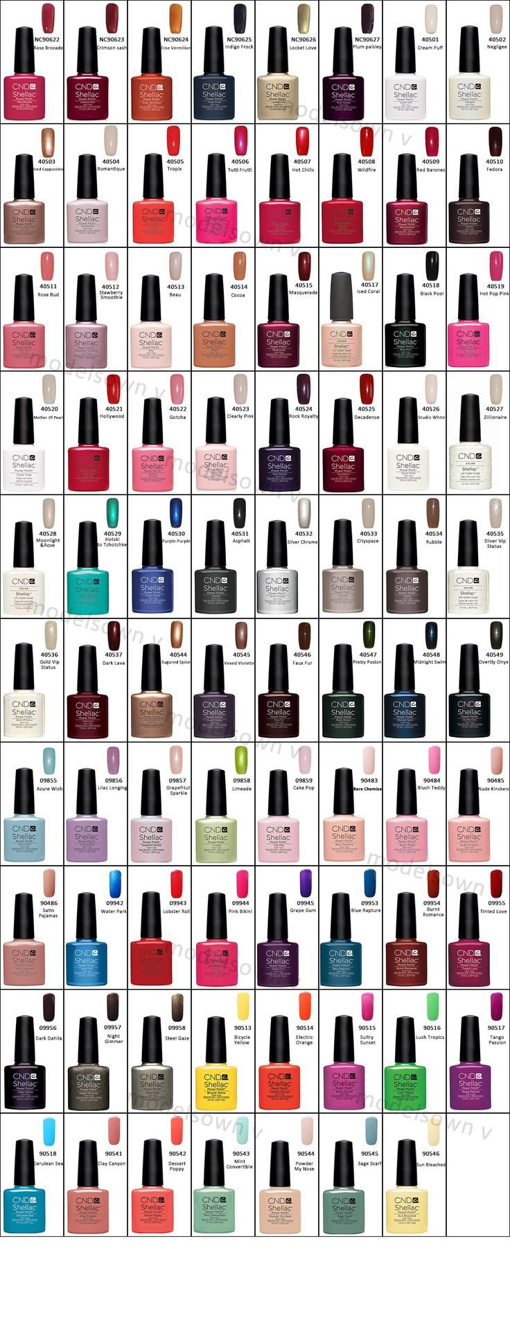 Great Cnd Shellac Color Guide Nail Ideas Pinterest Nails