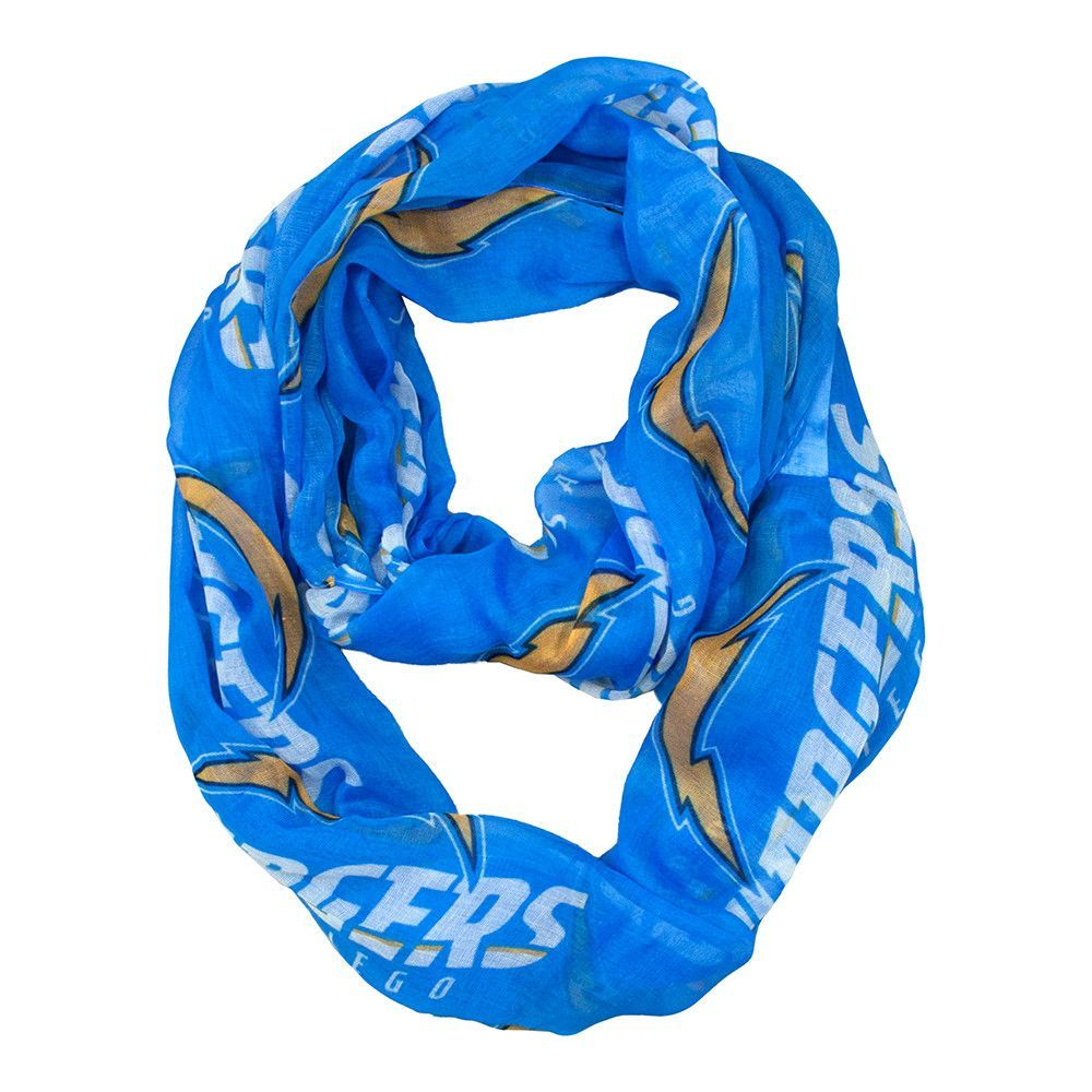 San Diego Chargers NFL Sheer Infinity Scarf