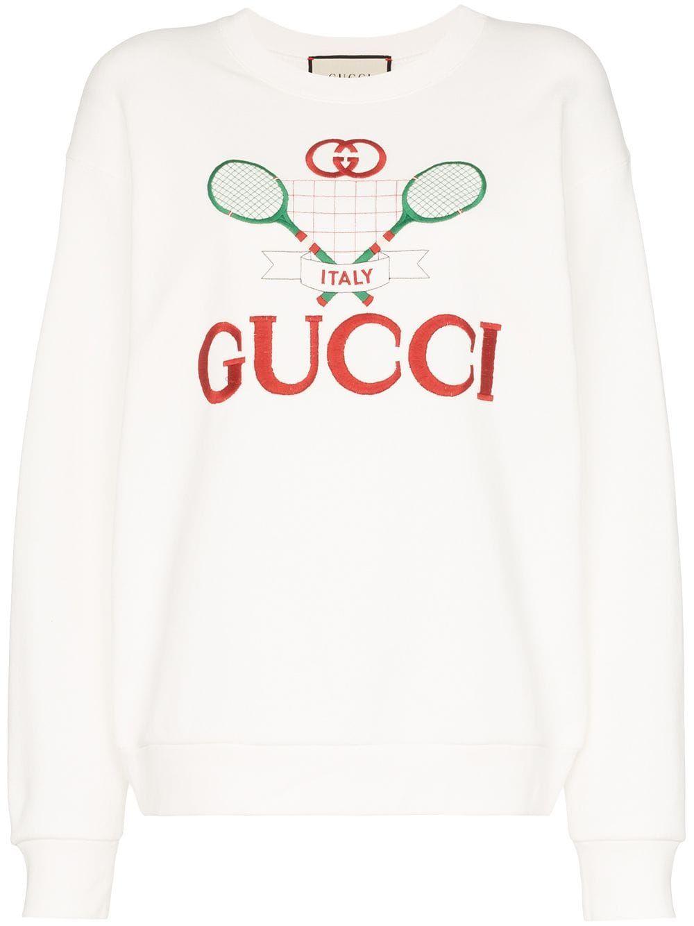 Gucci Gucci Embroidered Sweatshirt Farfetch Sweatshirts Oversized Sweatshirt Embroidered Sweatshirts [ 1334 x 1000 Pixel ]