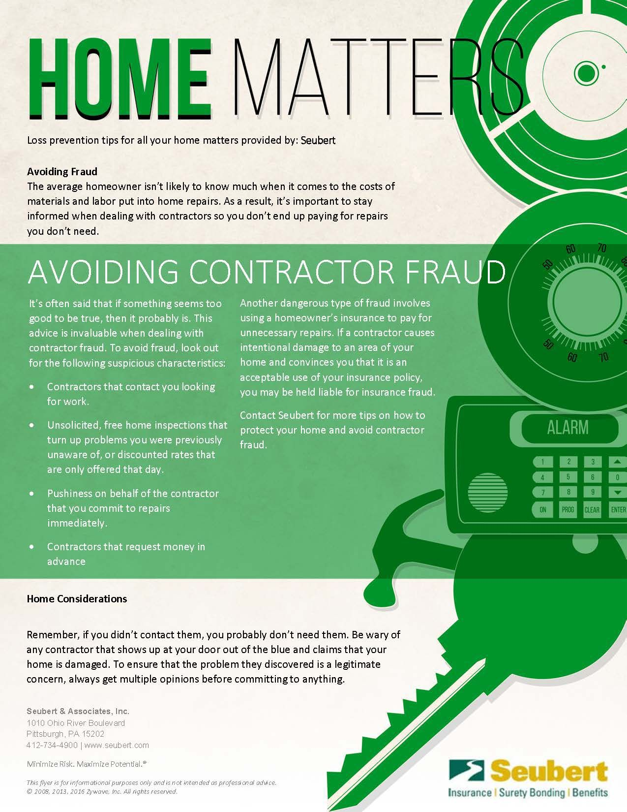 Home matters avoiding contractor fraud lines quotes