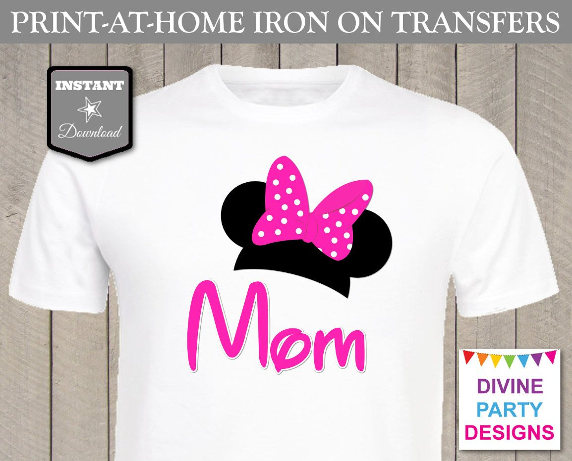 Make your own t-shirt with the Minnie Mouse Ears \