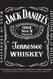 Jack daniels label. This personalised printable jack daniels label.