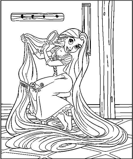 Tangled free coloring pages | coloriage | Pinterest | Raiponce ...