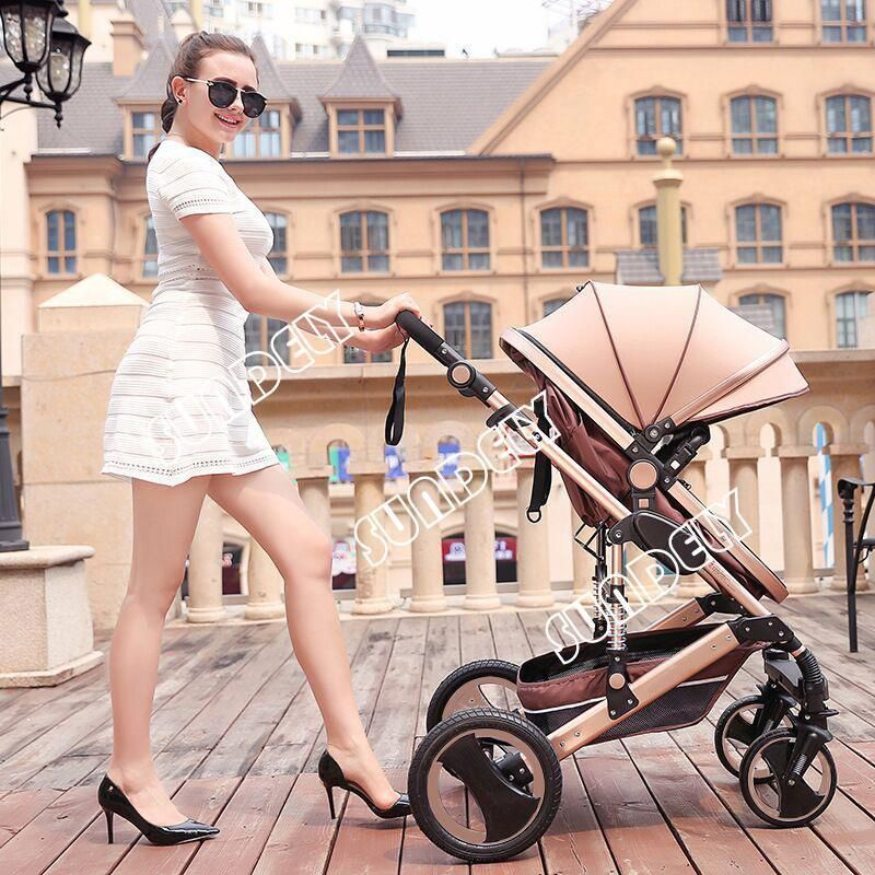 SUNDELY Baby Carriage Foldable Travel System Stroller