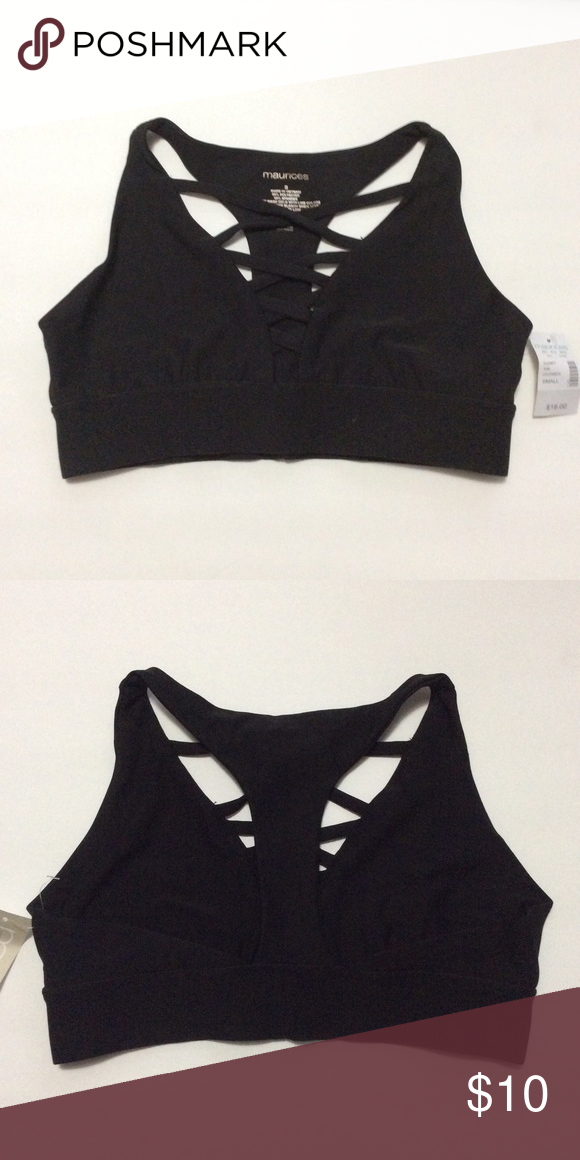 1a921a482 Maurices Black Strappy Bralette NWT Maurices Intimates   Sleepwear Bras