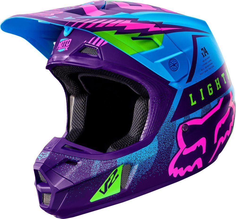 309 95 Fox Racing Special Edition V2 Vicious Helmet 260850 Motocross Helmets Dirt Bike Helmets Racing Gear