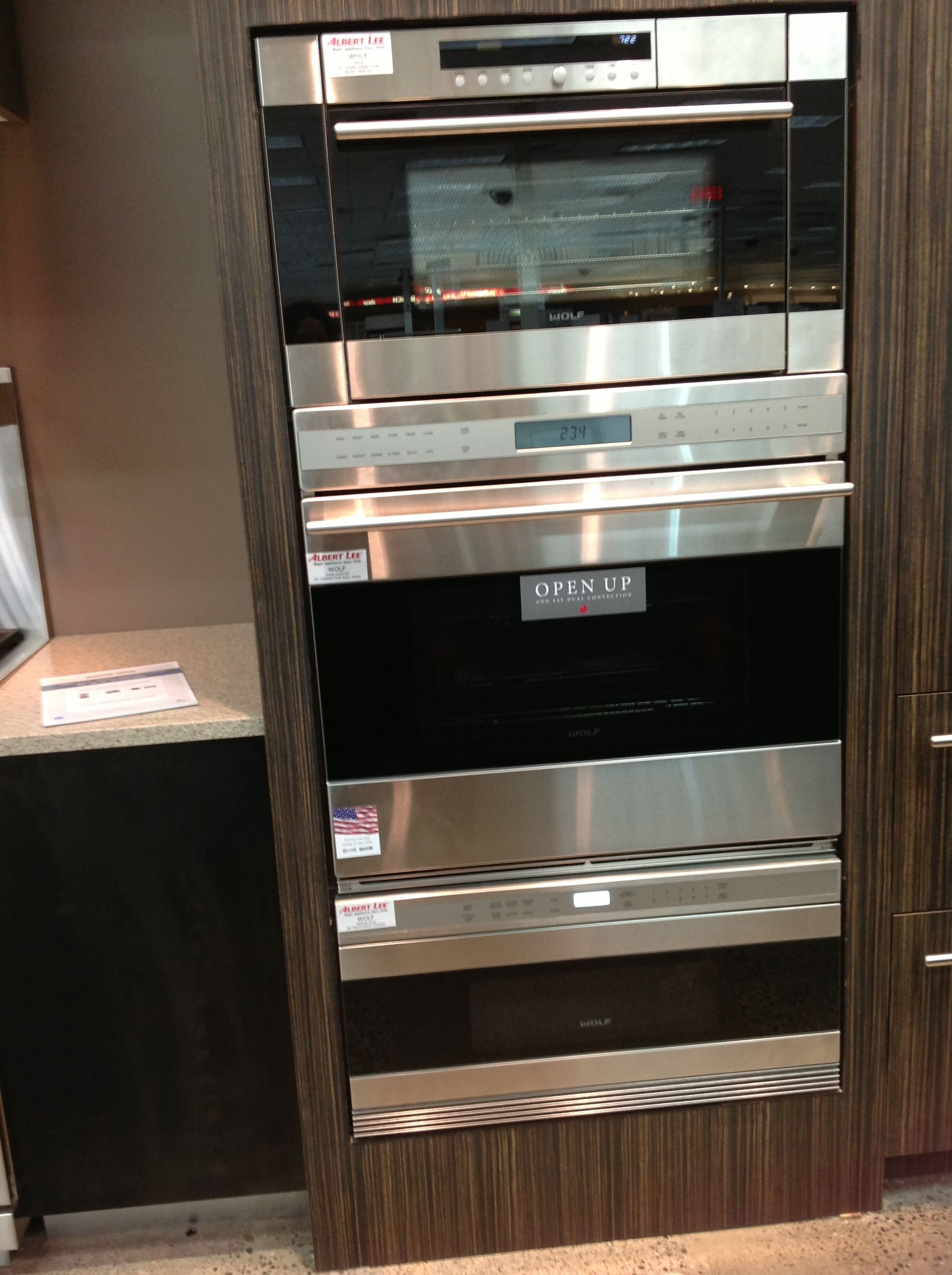 Wolf 30 Quot Convection Wall Oven Amp Upper Combo Steam Oven