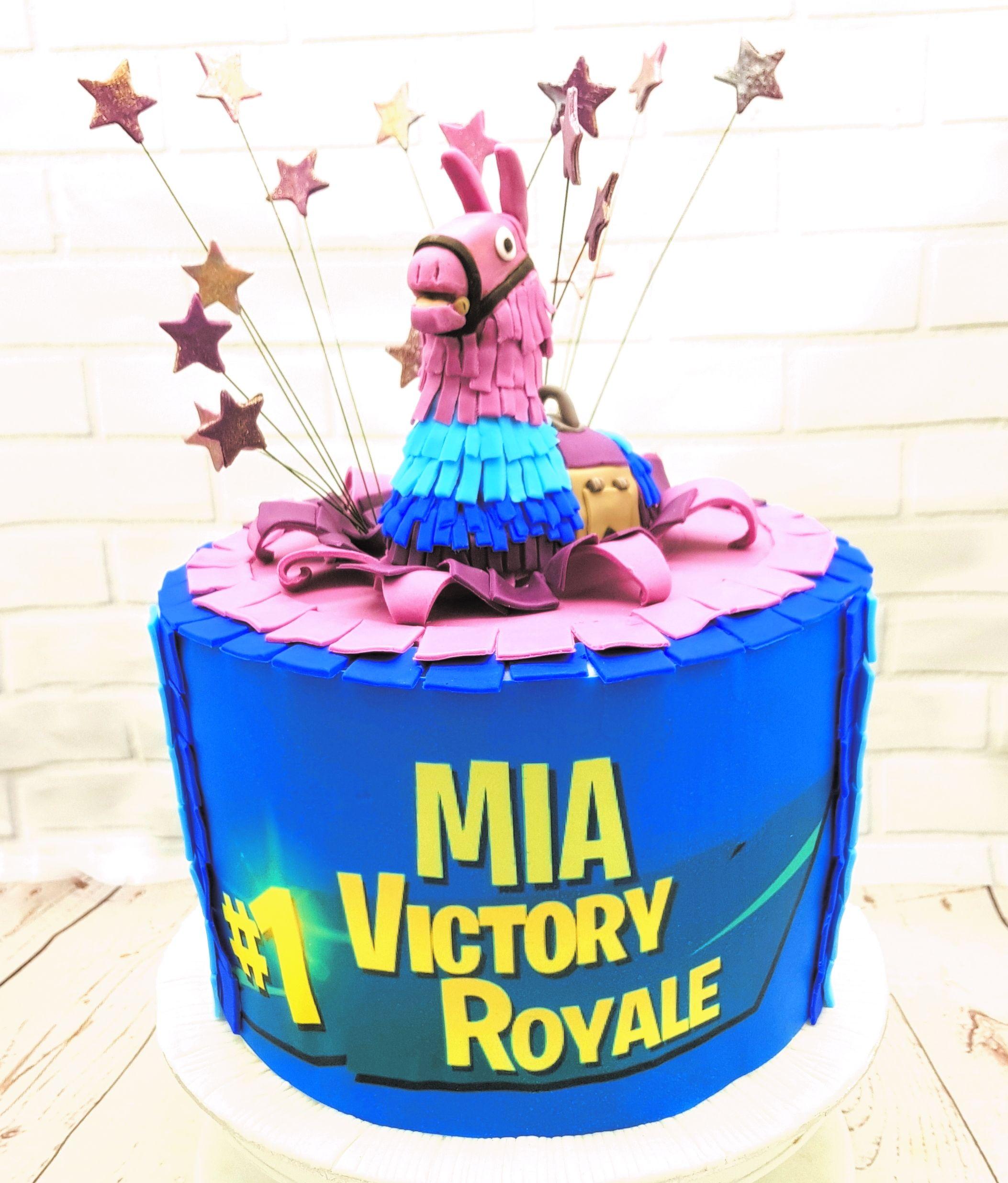 Happy birthday Mia! Mia is a big Fortnite fan so I did a