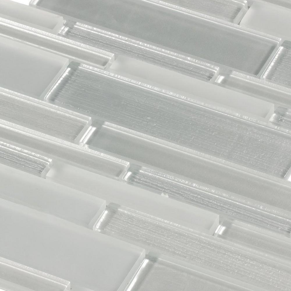 - Glacier Gray Linear Glass Mosaic Mosaic Glass, Mosaic Backsplash