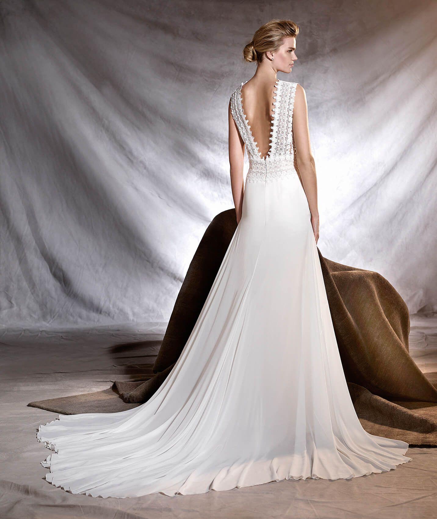 OROBIA - Robe de mariée en gaze, guipure et tulle | Wedding dress ...