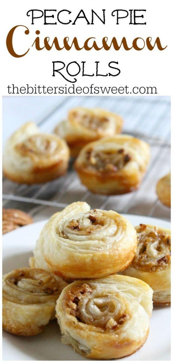 Pecan Pie Cinnamon Rolls #cinnamonrollpokecake