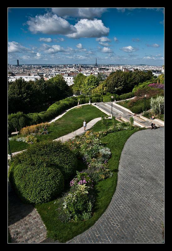 The view from Parc de Belleville   Ile de france, Parc et jardin, Parcs