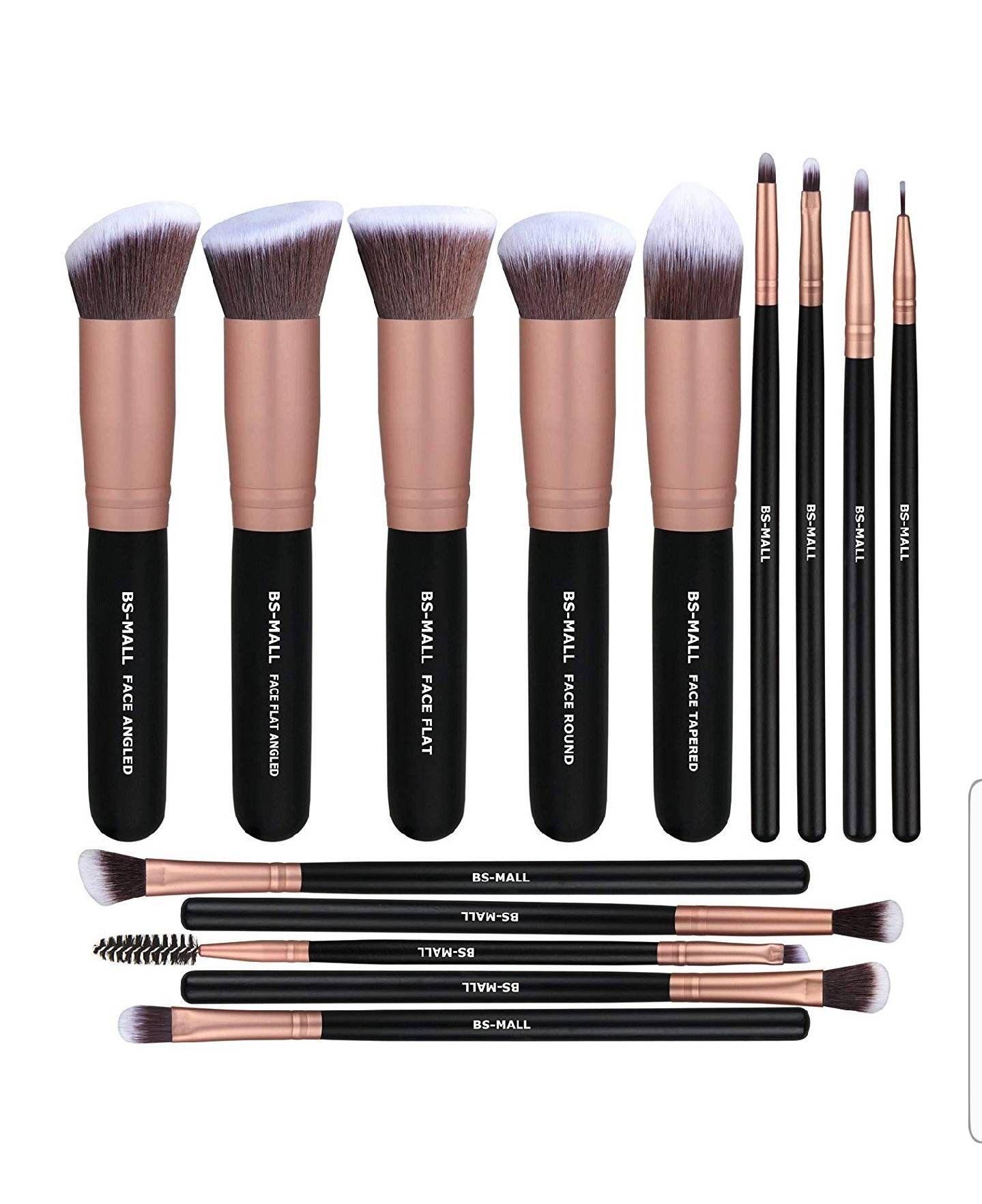 Photo of 14pc makeup brush set rose gold