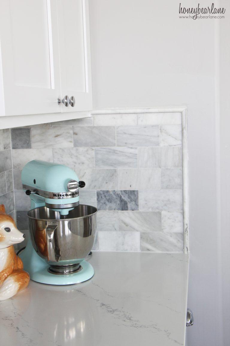 - My DIY Marble Backsplash Marble Tile Backsplash, Diy Kitchen